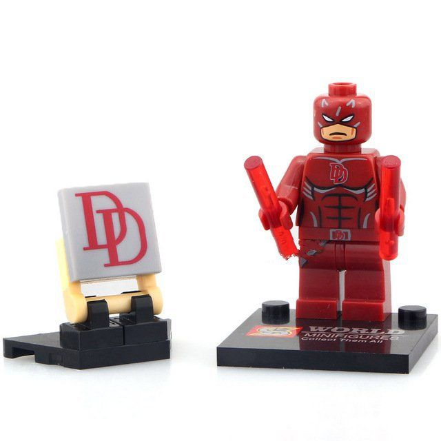 Daredevil Super Hero Marvel Comic Character Lego Minifigure Toy