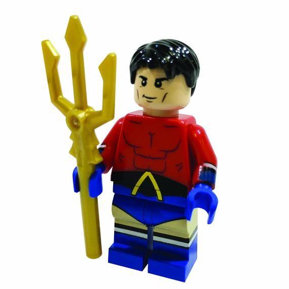 Aqua Boy Custom LEGO Minifigure LIMITED EDITION