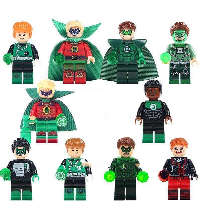 10pcs Justice League Green Lantern minifigures Lego Toy Compatible DC Super Heroes