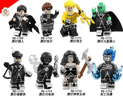 8PCSLot DC Blackest Night Minifigures