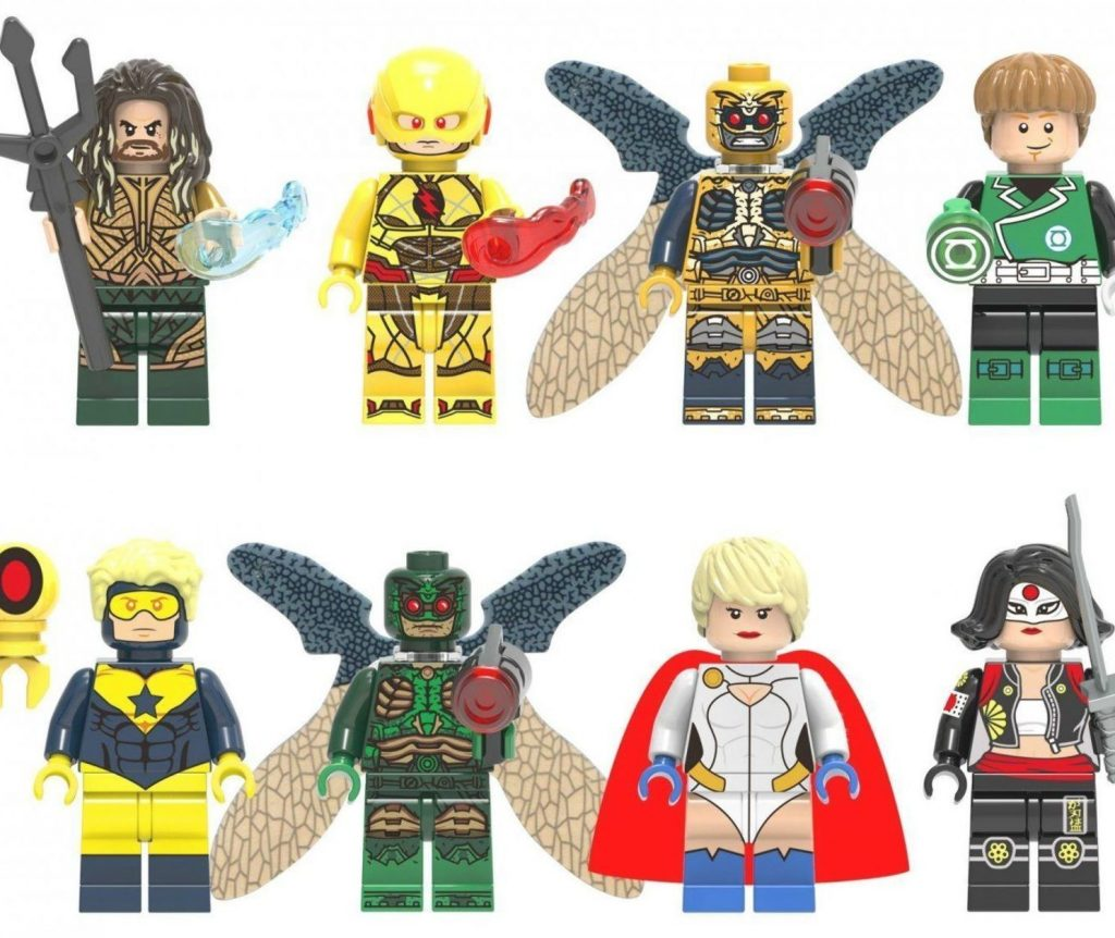 Super Heroes Parademon Booster Gold Power Girl Minifigures Compatible Lego Minif…