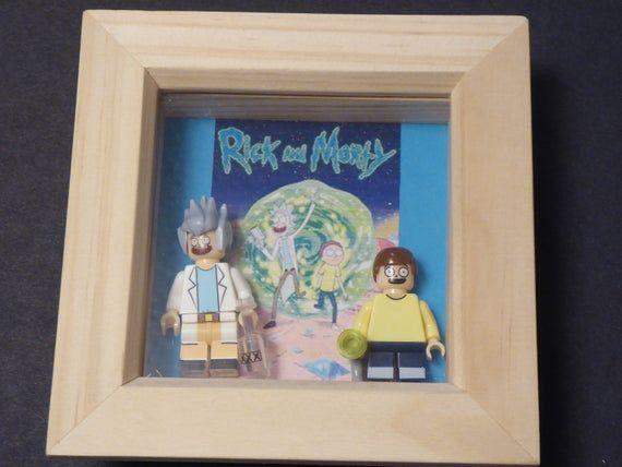 Rick & Morty Lego Minifigure Frame