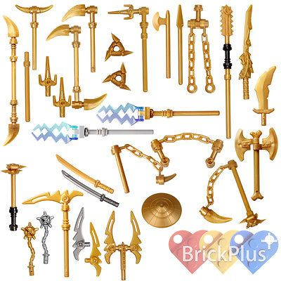 LEGO Ninjago Set/26 Golden Weapons – Spinjitzu weapons Shuriken Dragon Sword    eBay