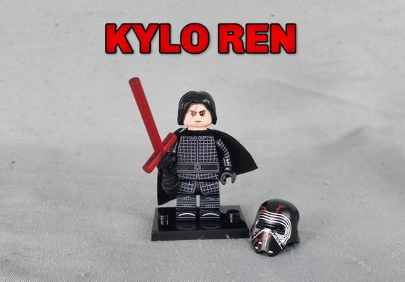 Kylo Ren, Custom Minifigures, Works with any Building Block Set