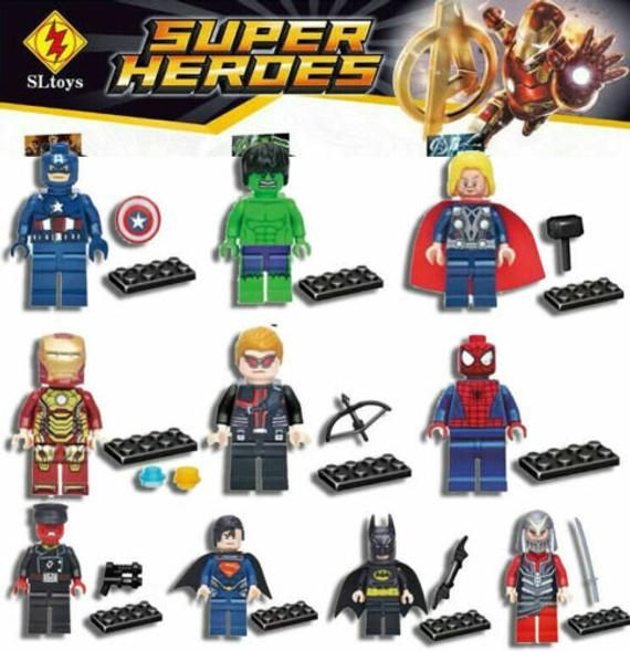 9-10pc Marvel Lego Avengers Super Mini New Heroes Figure Black Infinitywars Endgame