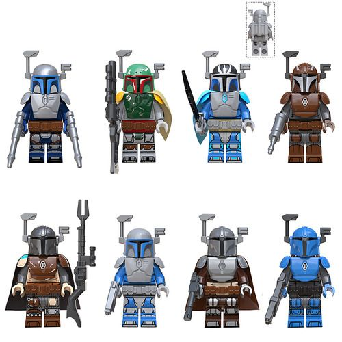 8PCS Various Star Wars and Mandalorian Minifigs