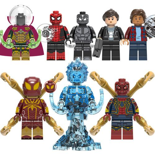 8PCS/Lot Spider Man Custom Minifigs Minifigure Fit Lego