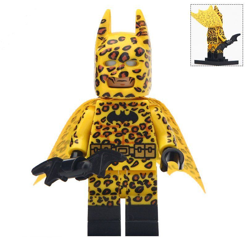 Minifigure Batman in the Leopard Costume DC Comics Super Heroes Compatible Lego Building B