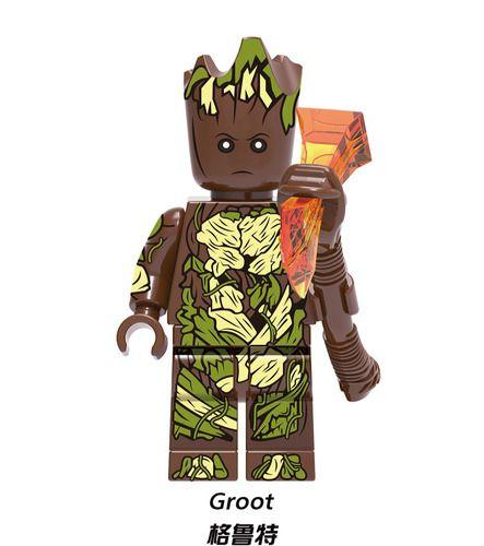 Groot Super Heroes Custom Minifig Minifigures