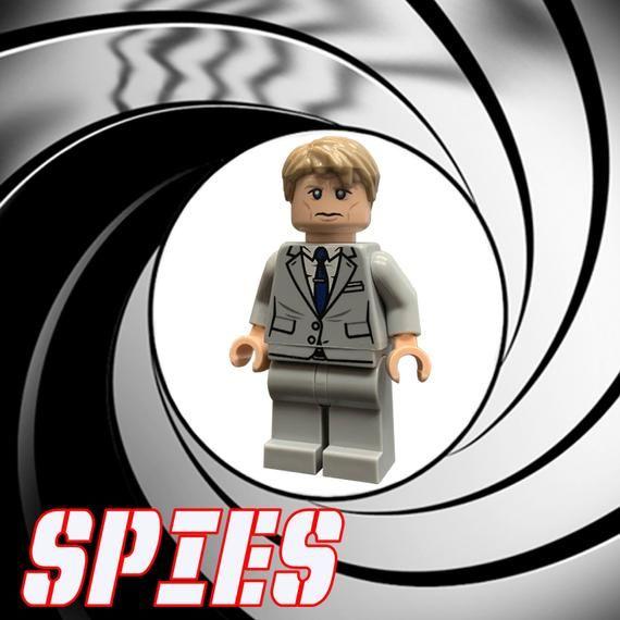 Secret Agent Spy Custom LEGO Minifigure LIMITED EDITION