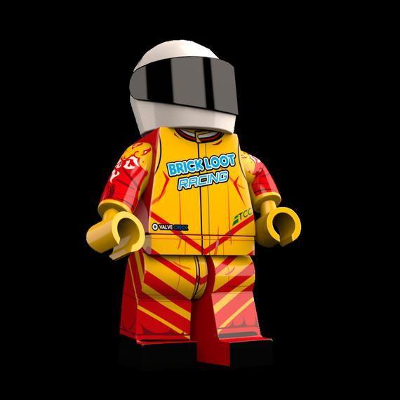 Car Racer Custom LEGO Minifigure LIMITED EDITION