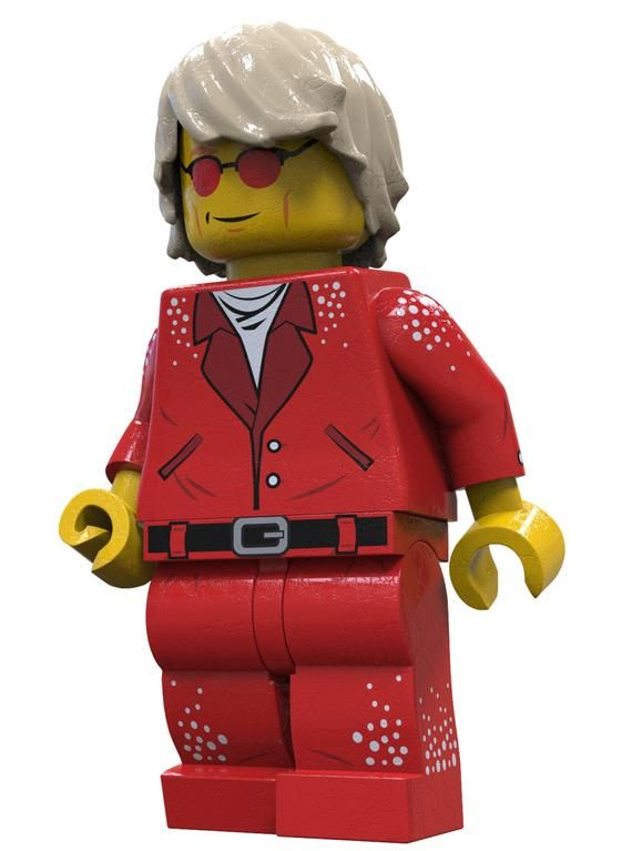 Sir Elton Rock Star Custom LEGO Minifigure LIMITED EDITION