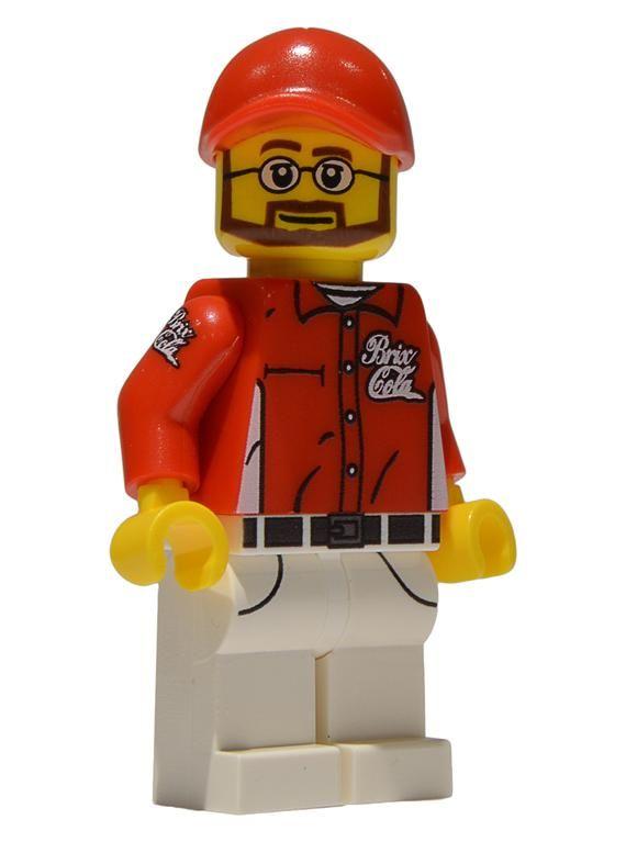 Soda Delivery Man Custom LEGO Minifigure LIMITED EDITION