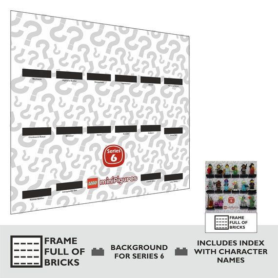 LEGO Minifigures Series 6 – Background Only (23 x 23cm) for Display Case / Frame