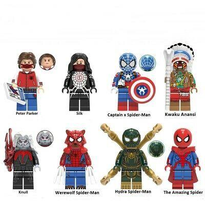 Ad – Minifigures Spider-Man Marvel Super Heroes Cartoon Fits Building Blocks Bri…