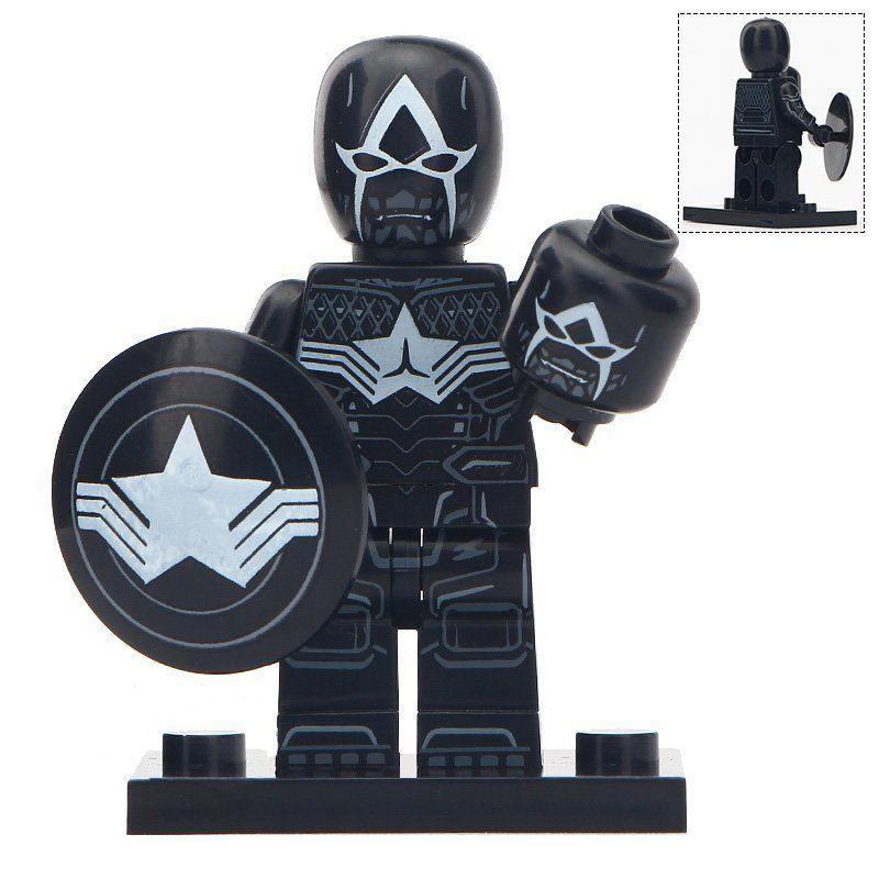 Minifigure Venom with Shield Marvel Super Heroes Compatible Lego Building Block Toys