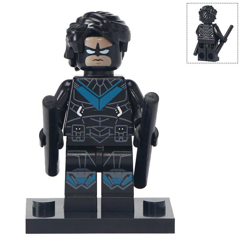 Minifigure Nightwing DC Comics Super Heroes Compatible Lego Building Blocks Toys