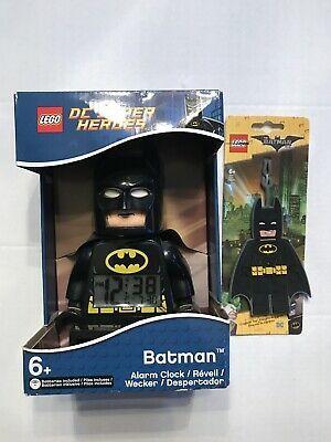 """Ad – 2016 DC COMICS LEGO 10"""" BATMAN SUPER HÉROES MINIFIGURE ALARM CLOCK"""