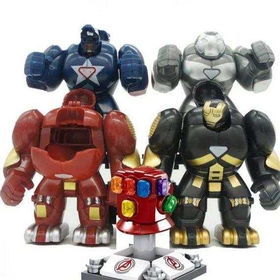 avengers infinity minifigures war versus Cull Obsidian Thanos   hulkbuster Ironman more comic superh