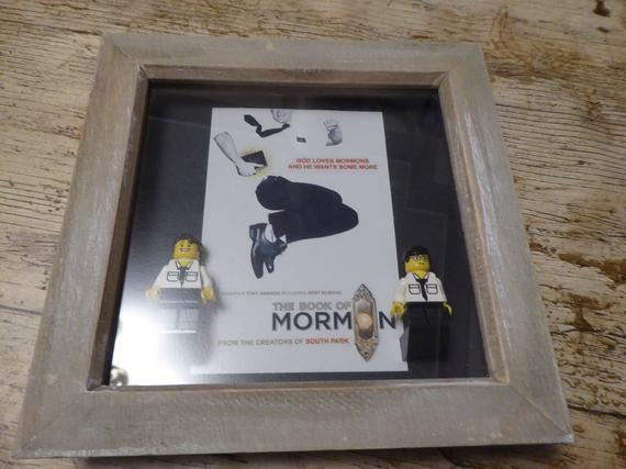 Book Of Mormon Musical Lego Minifigure Frame