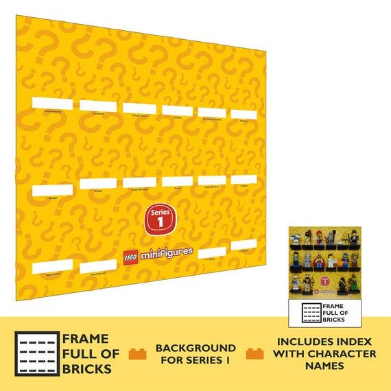 LEGO Minifigures Series 1 – Background Only (23 x 23cm) for Display Case / Frame