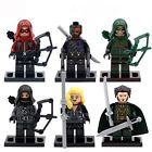 6 X Super Heroes Minifigures Toys Arsenal Arrow Archer Black Canary Blocks Z232