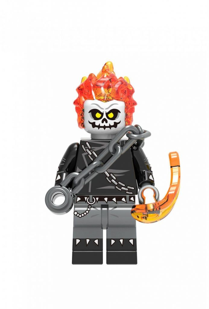 Movie Ghost Rider Minifigures Compatible Lego Marvel Super Heroes Toy