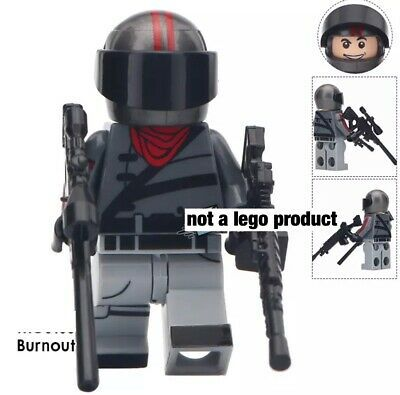 Custom Minifigure – fortnite Burn Out – USA seller