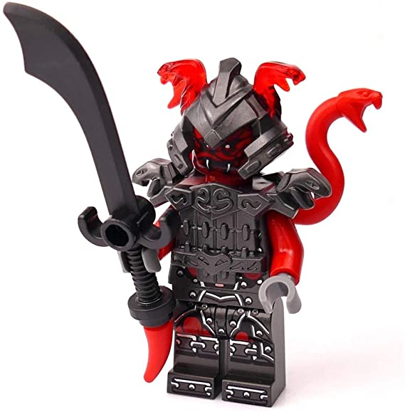 LEGO Ninjago Minifigure – Vermillion Warrior Limited Edition Foil Pack (with Sword and Snake Helmet)
