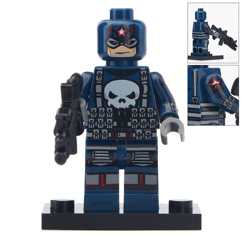 Minifigure Punisher Marvel Super Heroes Compatible Lego Building Block Toys