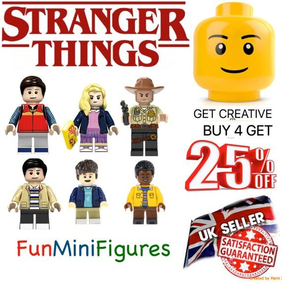 Stranger Things Minifigure Will Dustin Eleven Jim Hopper Lucas Custom Minifigures Halloween Toys Lego Compatible Mini Figures