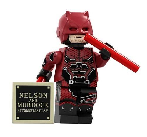 Zombie Daredevil Marvel DC Super Heroes Custom Minifigures Minifigs Fit Lego Blocks P1717