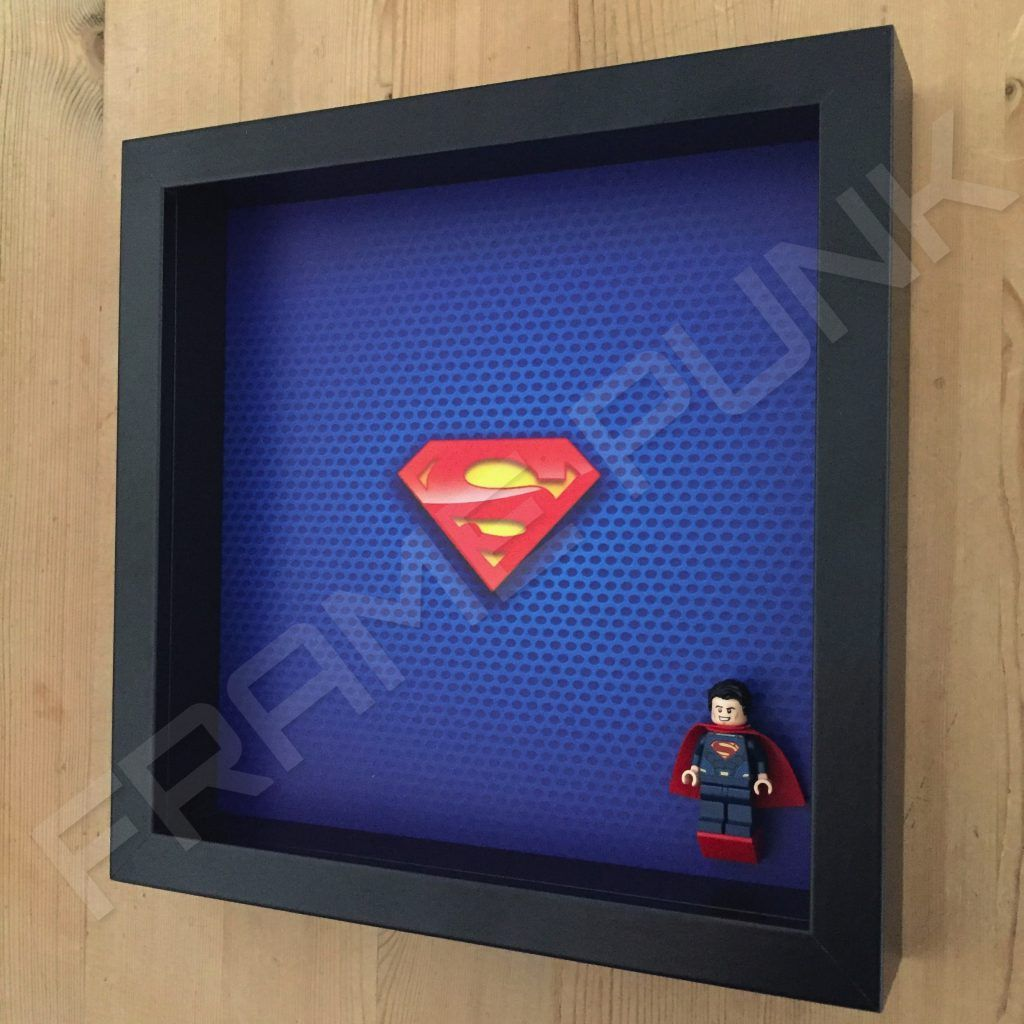 Superman LEGO Minifigure Display Frame | Frame Punk