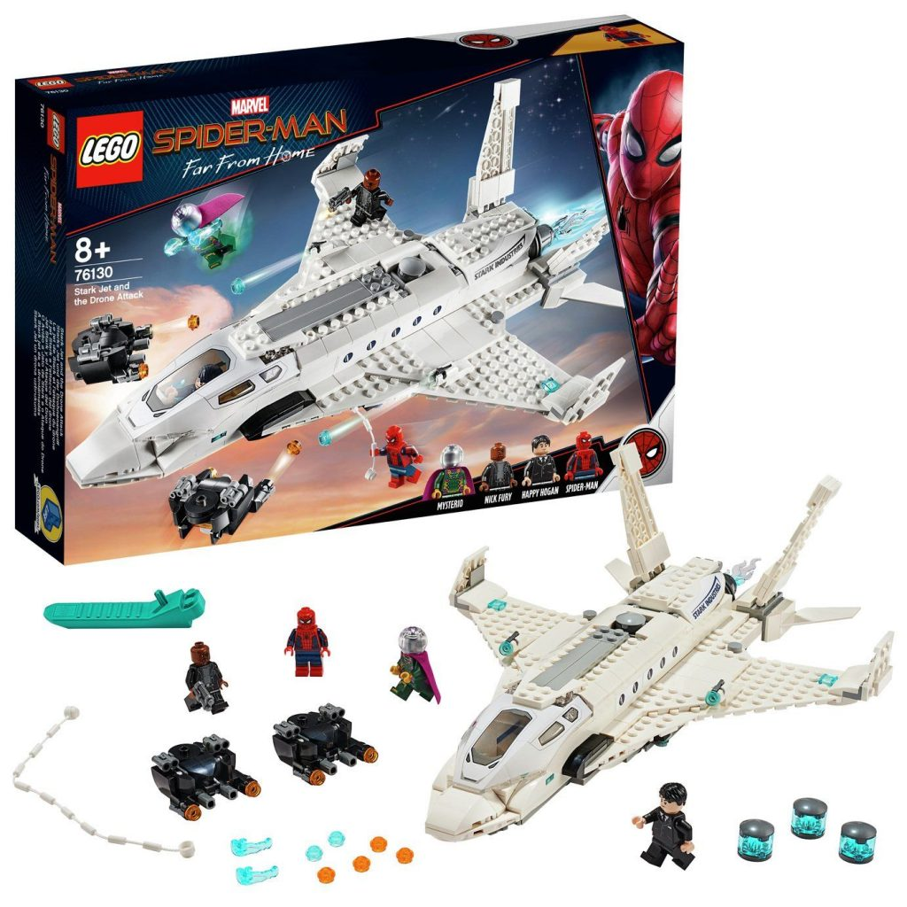 LEGO Marvel  Stark Jet and the Drone Attack Toy – 76130
