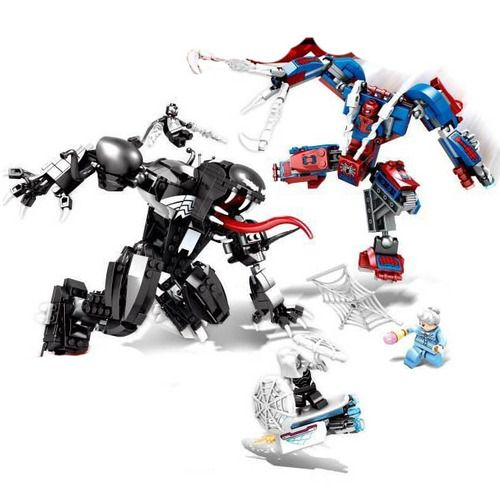 Spider man vs Venom Building Blocks Set