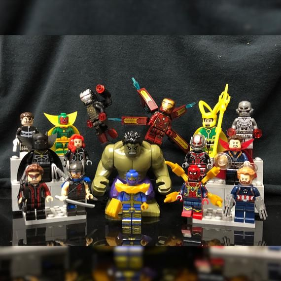 16x The Avengers Minifigure Set | Infinity War | Marvel Superheroes | Custom Minifigures Lot