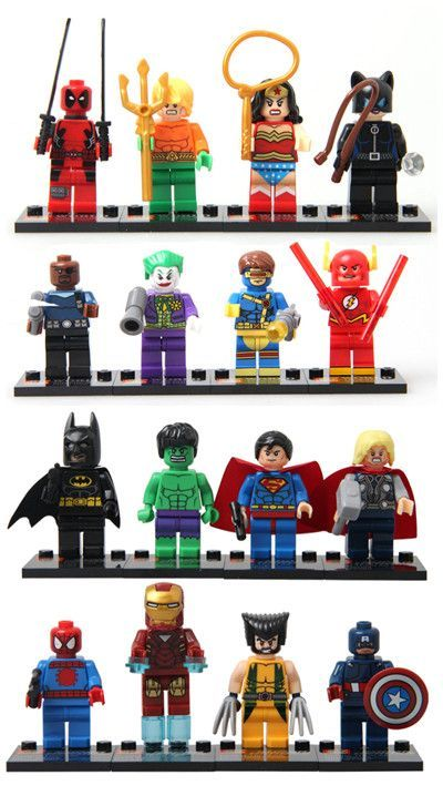 8 pieces works with Lego Building Blocks Marvel Super Heroes Avengers Hulk Deadpool Iron Man Action Figures minifigures toys 001