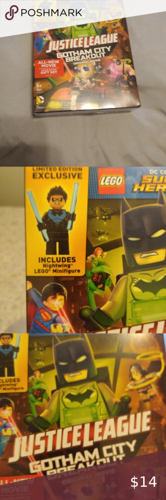 NIP Lego Justice League DVD Gift Set NIP Lego DC Comics Super Hero Justice Leagu…