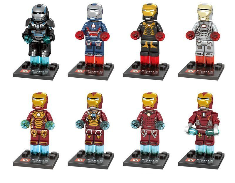 Avengers Super Heroes Iron Man Minifigures Lego Compatible Toy