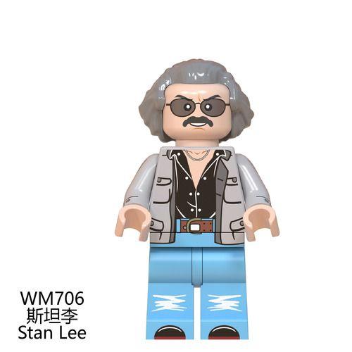 Stan Lee Custom Minifigures Minifigs Fit Lego