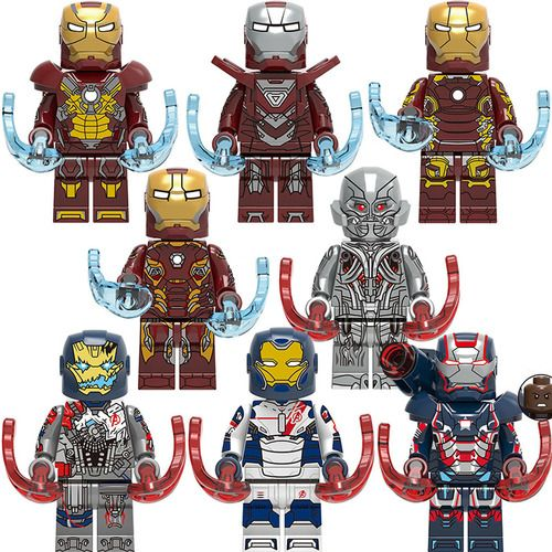 8PCS Utron Iron Patriot Iron Legion Iron Man Minfigs