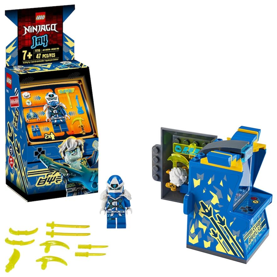LEGO NINJAGO Jay Avatar Arcade Pod 71715 Building Kit