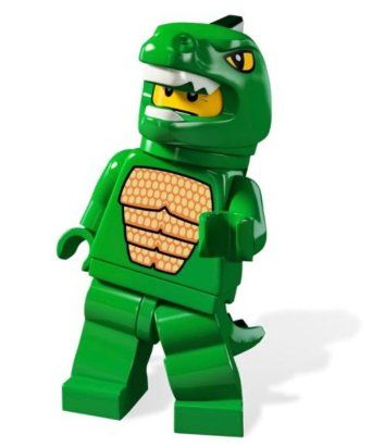 LEGO Minifigures Series 5 Lizard Man Collectible Figure Giant Monster Professional Wrestler