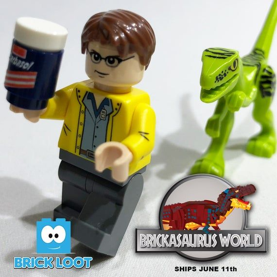 Brick Loot Exclusive Dino Smuggler Custom LEGO® Minifigure LIMITED EDITION