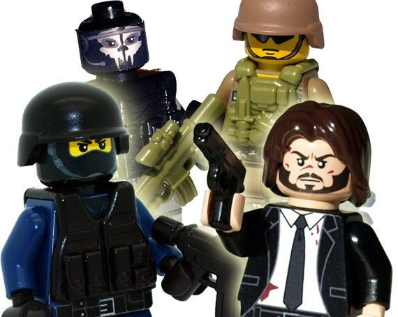 Custom Minifigures: Modern Soldiers, Police, and Robbers