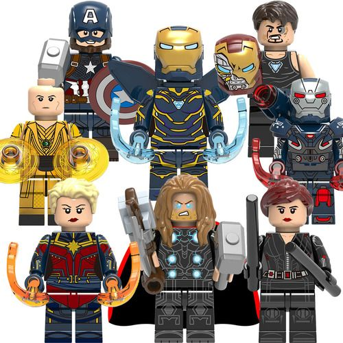 8PCS/Lot Marvel Avengers Minifigs Fit Lego