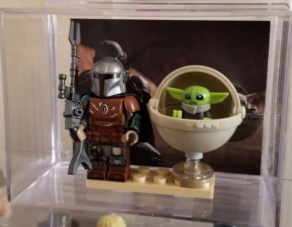 the Mandalorian & Baby Yoda display