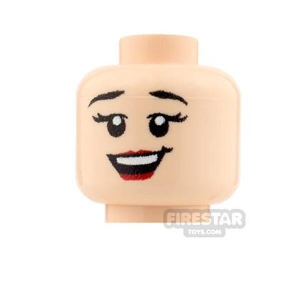 Custom Minifigure Heads – Big Grin Girl – Light Flesh