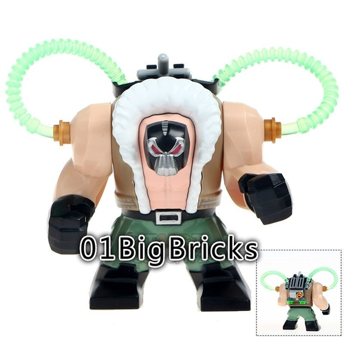 01BigBricks Custom Bane Batman Minifigure fit Lego