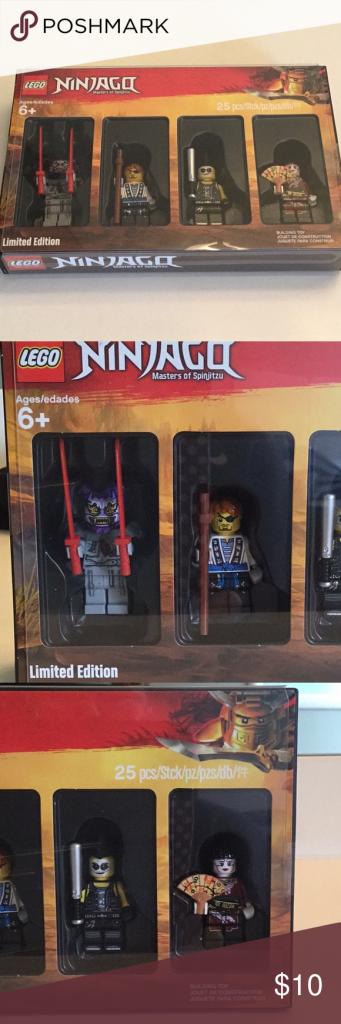 Lego Ninjago Mini figures LEGO Ninjago minifigures   Limited edition  4 minifigu…